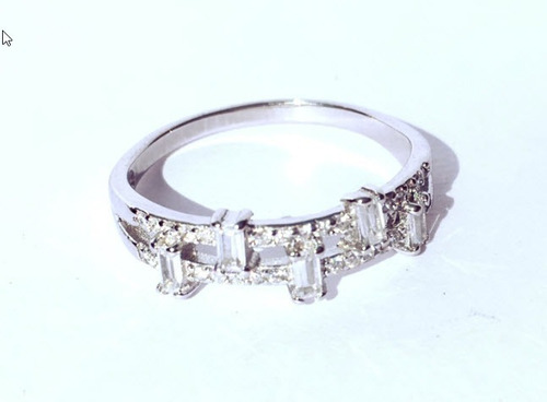 anillo solitario con cubics plata 925, a01