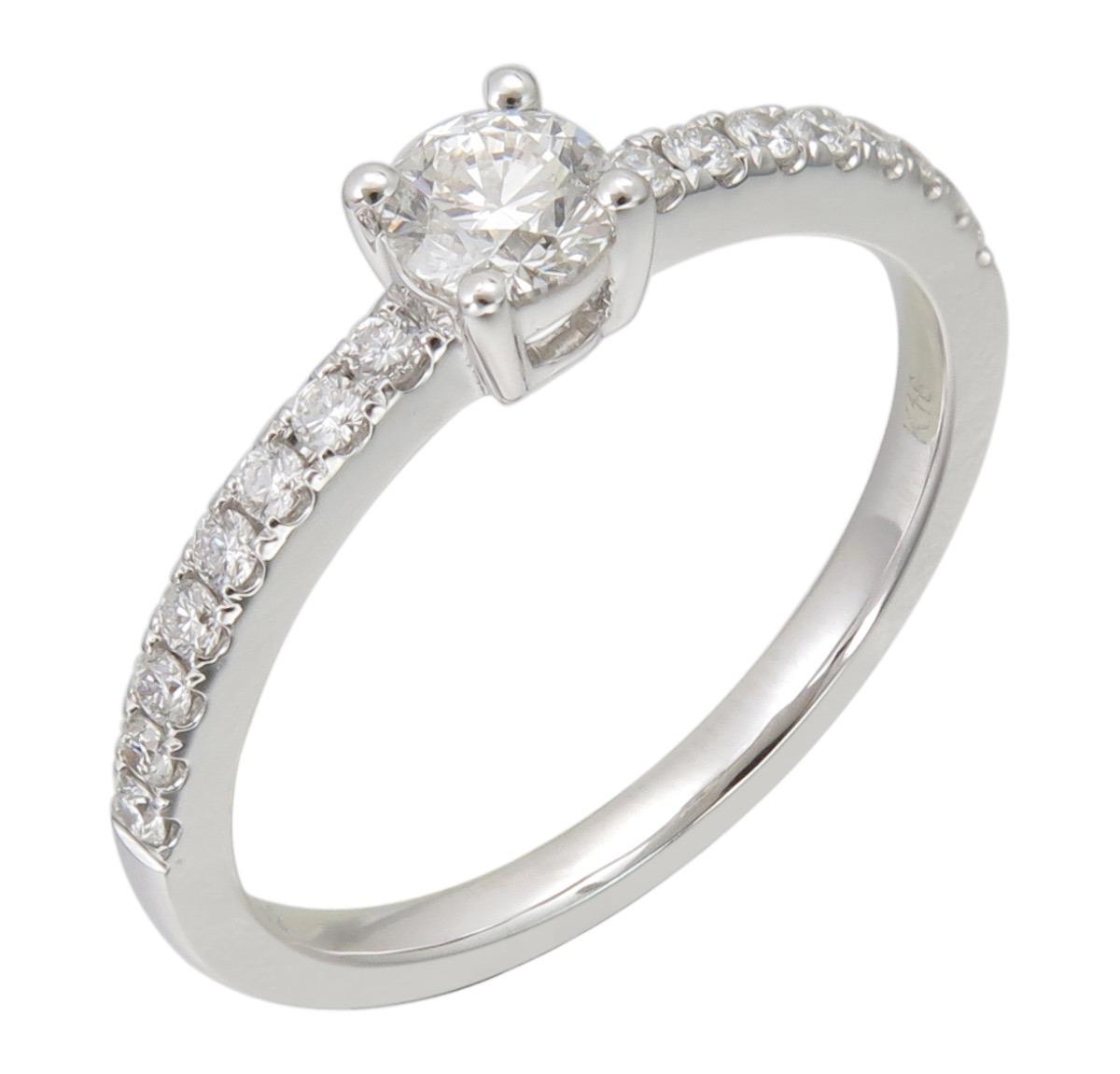 2365712f717b anillo solitario oro blanco diamantes brillante gia. Cargando zoom.