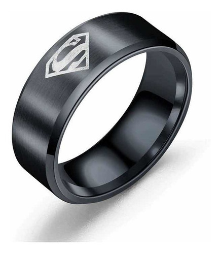 anillo superman titanio argolla en acero