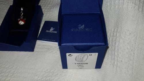 anillo swarovski nirvana azul acero inoxidable