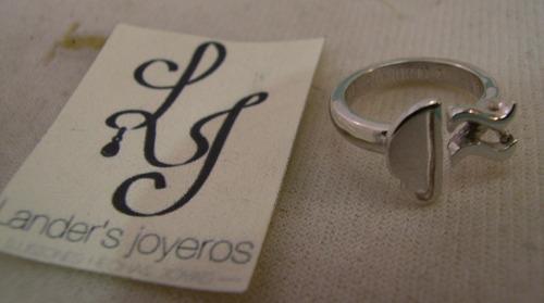 anillo taza de café, plata 950 envió gratis