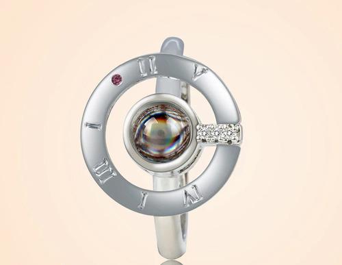 anillo  te amo en 100 idiomas  + caja de regalo (ajustable)
