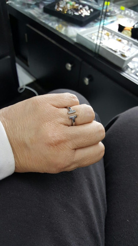 anillo tiffany acero inoxidable