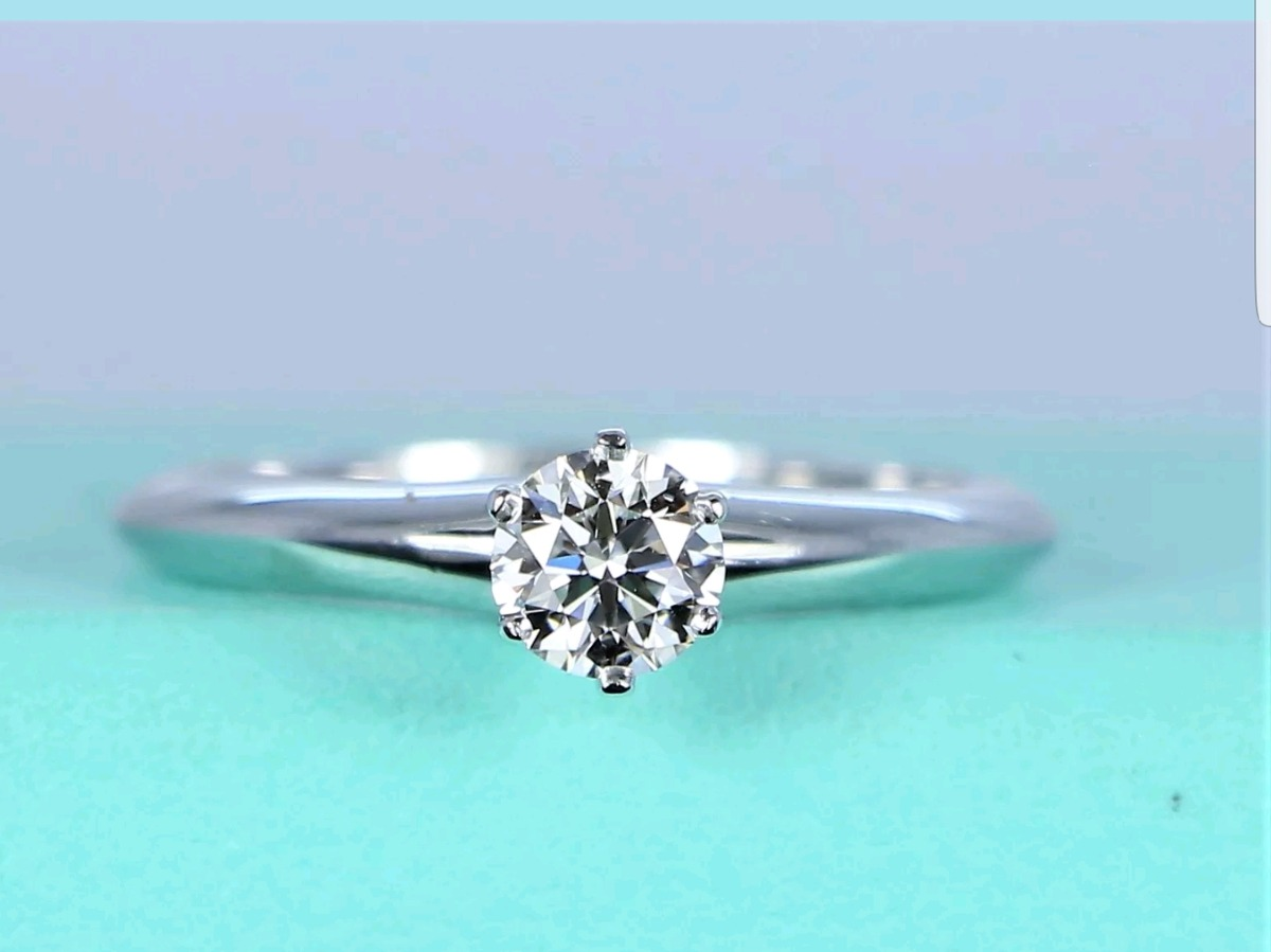 a682ca5c7ea0 Anillo Tiffany   Co. Diamante .24 Ct Y Platino Original ...