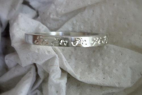 anillo tipo alianza personal de plata 925, hecho a mano
