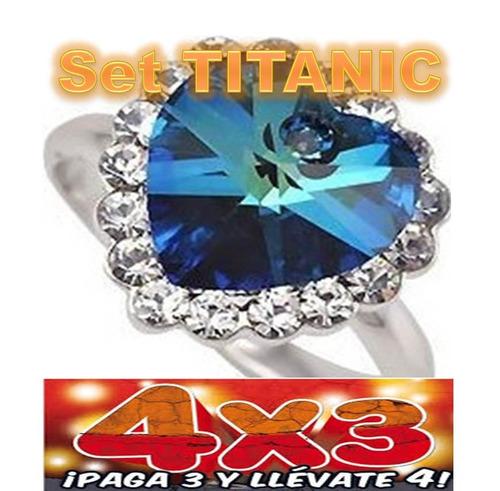 anillo titanic swarovski elements con regalo buen fin