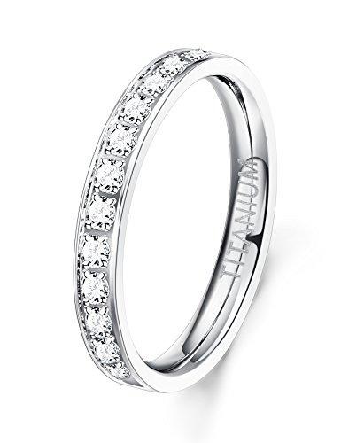 anillo titanio 3 mm  joyería las mujeres funrun cúbico co