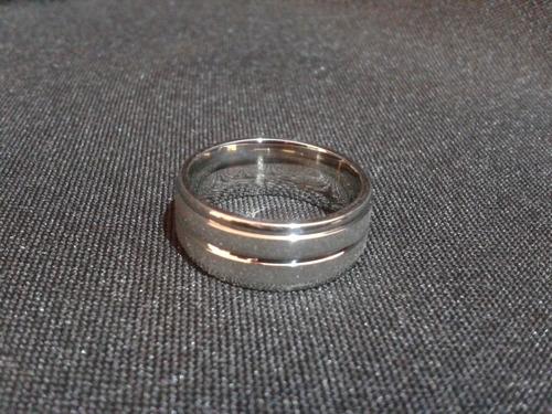 anillo titanio ac. inox. 8mm del #8 a-68