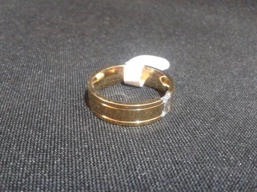 anillo titanio ac. inox. circonio cubico del #8 a-55