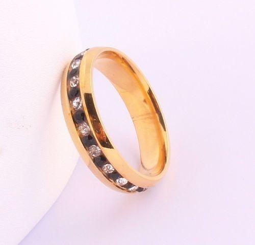anillo titanio ac. inox. con circonios cubicos del #7 a-62