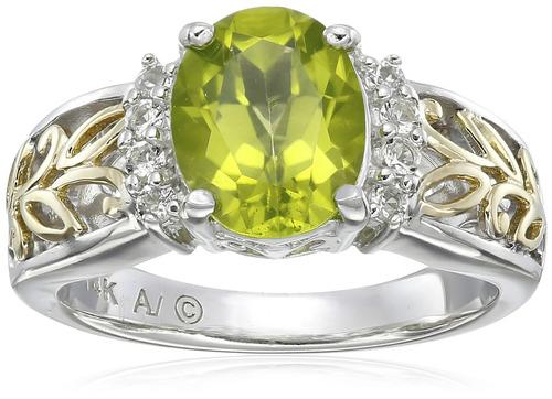 anillo topacio oro