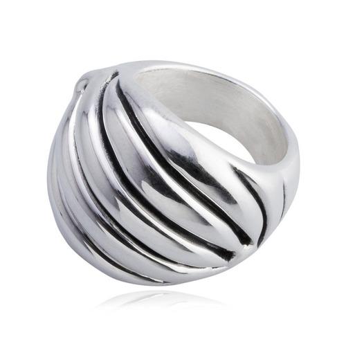 anillo tornado en plata .925, de mauricio serrano