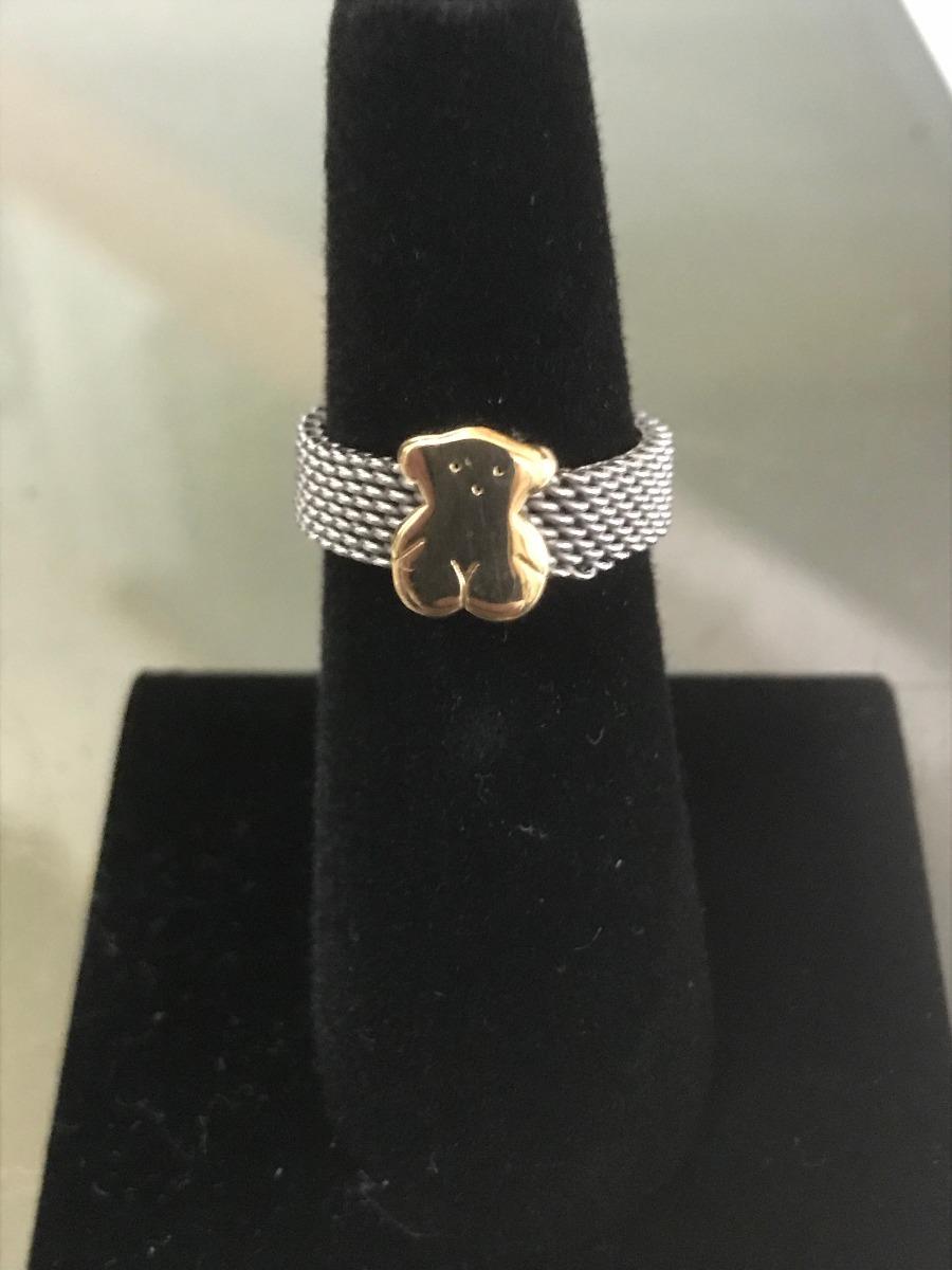 7bd35c9b8535 anillo tous mesh bear oro 18k y acero envio gratis. Cargando zoom.