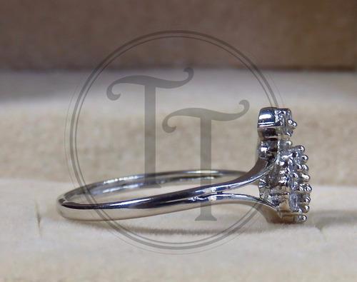 anillo trisquel plata esterlina 925 zirconia cz 2.75 ct bidz