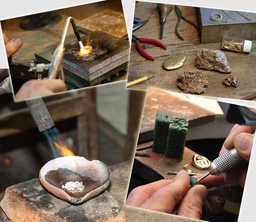 anillo turco hecho a mano plata ley talla 11 (esmeralda)a33
