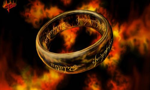 anillo unico del señor de los anillos + cadena acero