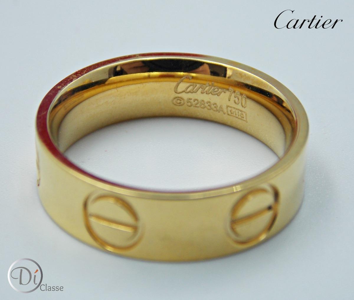 4218bf98ccb Anillo Unisex Cartier Love En Color Oro King -   349.00 en Mercado Libre