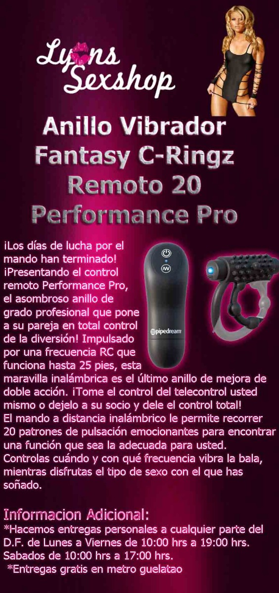 Fantasy C-ringz Remote Control Performance Pro Pipedream Products Sexual Wellness Health & Beauty