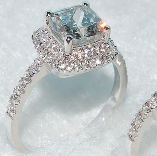 anillo zafiro blanco pave  zirconia a99 talla 6