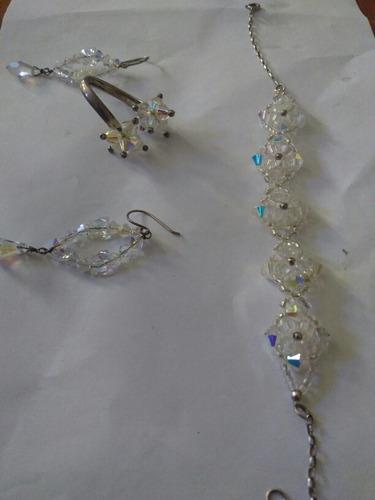 anillo zarcillos y pulsera swarovski original