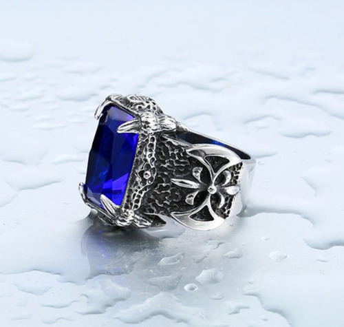 anillo zirconia acero