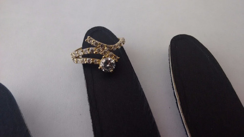 anillo zirconias oro 10k