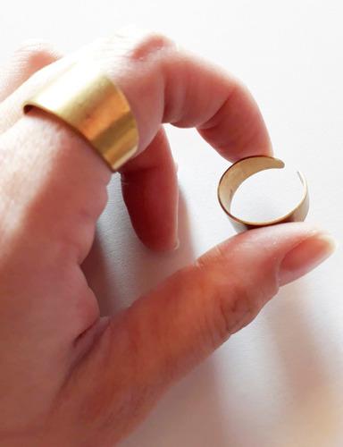 anillobases dorados bronce ajustable unisex 5pcs insumos