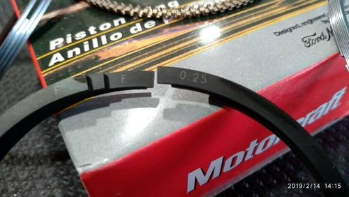 anillos 0.10 = 0.25 ford fiesta power move max ford ka 1.6