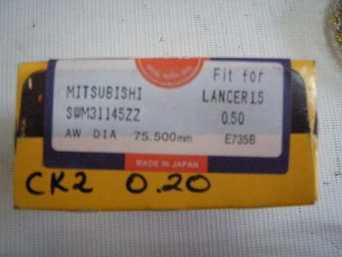 anillos 0.20 (0.50mm) mitsubishi lancer 98- 01 motor 1.5 npr