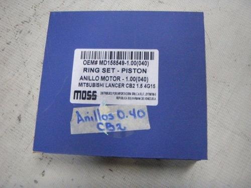 anillos 0.40 (1.00mm) mitsubishi lancer 92- 97  1.5 moss