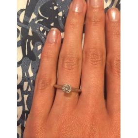 13f50d28e026 Anillo De Compromiso Oro Blanco 14k Con Diamante .12 Puntos ...