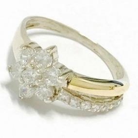 87898665fc3e Anillo Diamante Oro Y Plata - Anillos de Oro y plata en Mercado ...