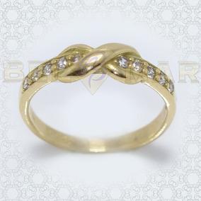 e46af969d3c6 Anillo Infinito Oro 18k Hermoso Regalo Mujer Con Piedras 3g