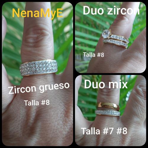 anillos acero inoxidable zircon cristal corona venezuela