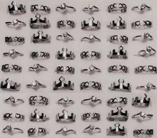 anillos acero quirurgico combo x mayor lote 12 unidades