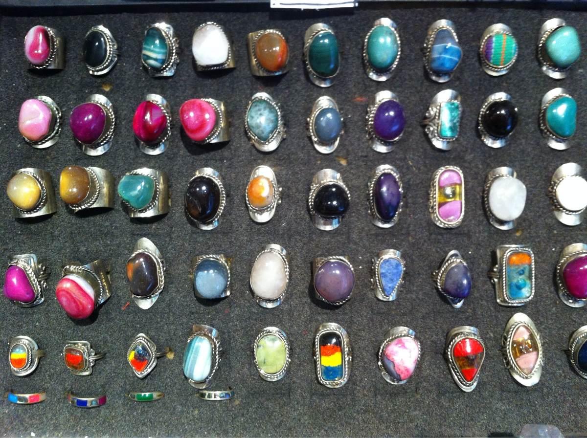5335f8415ee5 anillos ajustables de alpaca con piedras naturales. Cargando zoom.