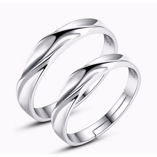 anillos aniversario plata baratos economicos pareja regalo