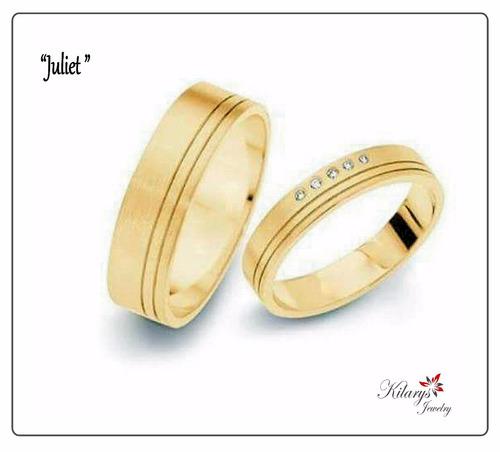 anillos aros matrimonio alianza oro 18k joyeria kilarys