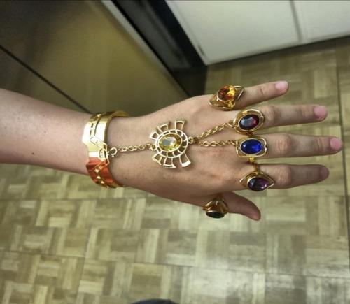 anillos brazalete guante thanos avengers infinity war