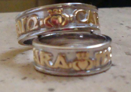 anillos celta boda claddagh oro plata compromiso  amor