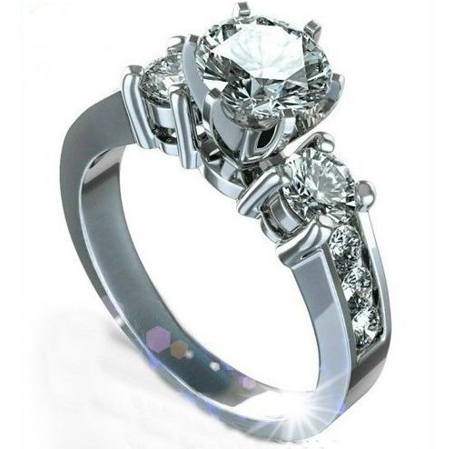 anillos compromiso 14kt 1.10ct brillante forever brilliant