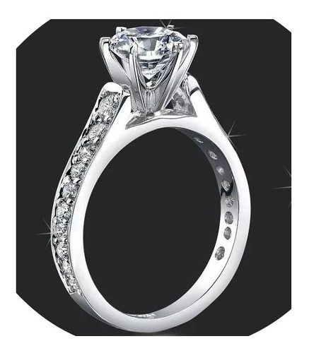 anillos compromiso 14kt 1.20ct brillante forever one