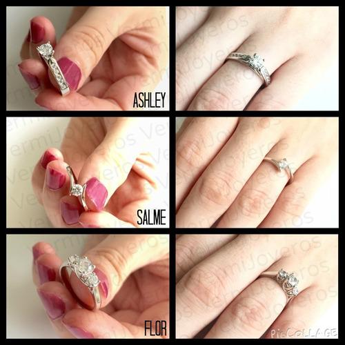 anillos compromiso plata y baño platino envío gratis!!