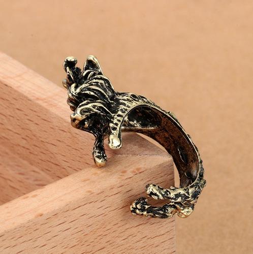 anillos con forma de perro mascota bulldog potter yorkshire