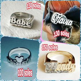 db2c7179046d Anillos Grabados Con Nombres - Joyas en Mercado Libre Perú