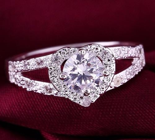 anillos d compromiso bañados en plata esterlina 925