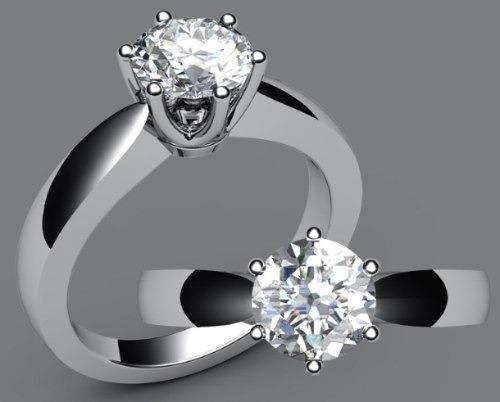 anillos de compromiso 14kt de .35ct diamante natural vv4