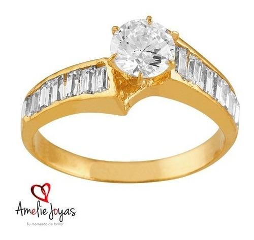 anillos de compromiso amelie joyas oro 14k swarovski elemnts