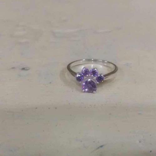 anillos de compromiso boda garra gato plata baño oro rosa