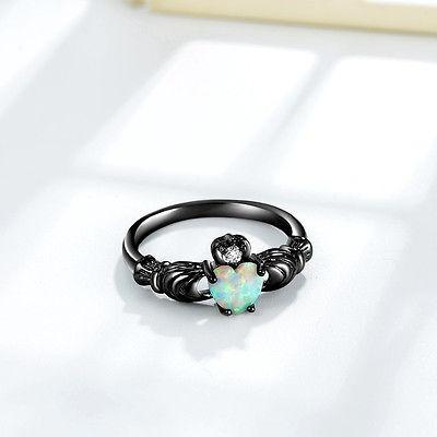 anillos de compromiso de promesa de boda de oro... (9)
